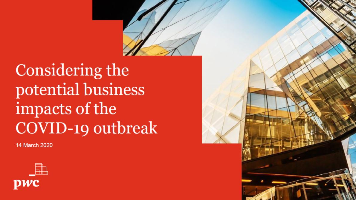PwC Considerations of Covid-19 business impact