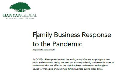 Family Business Response to the Pandemic